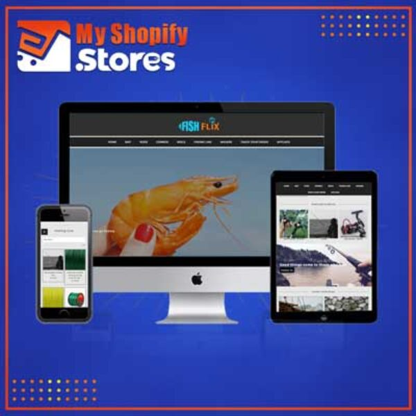 Fish Flix | Premade Shopify Store for Fisher | Fishing Collections | Bait Rods Combos & More