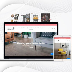 Myriad Home | Premade Shopify Store For Home Products | Painting & Calligraphy, Wall Stickers & More