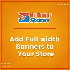 Add Full Width Banners to Your Store