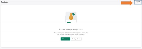 How to import products in shopify step-2
