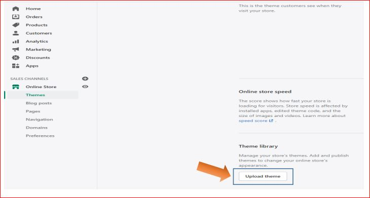 How to install shopify theme step-2