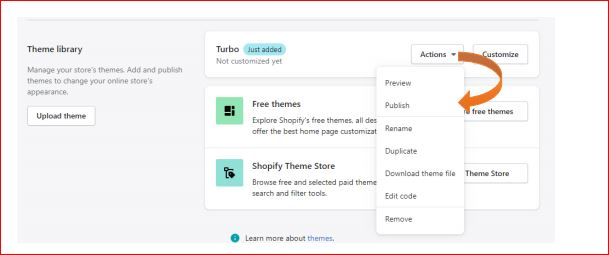 How to install shopify theme step-6
