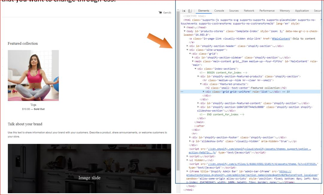 How to use custom code to force the theme to change CSS step-3
