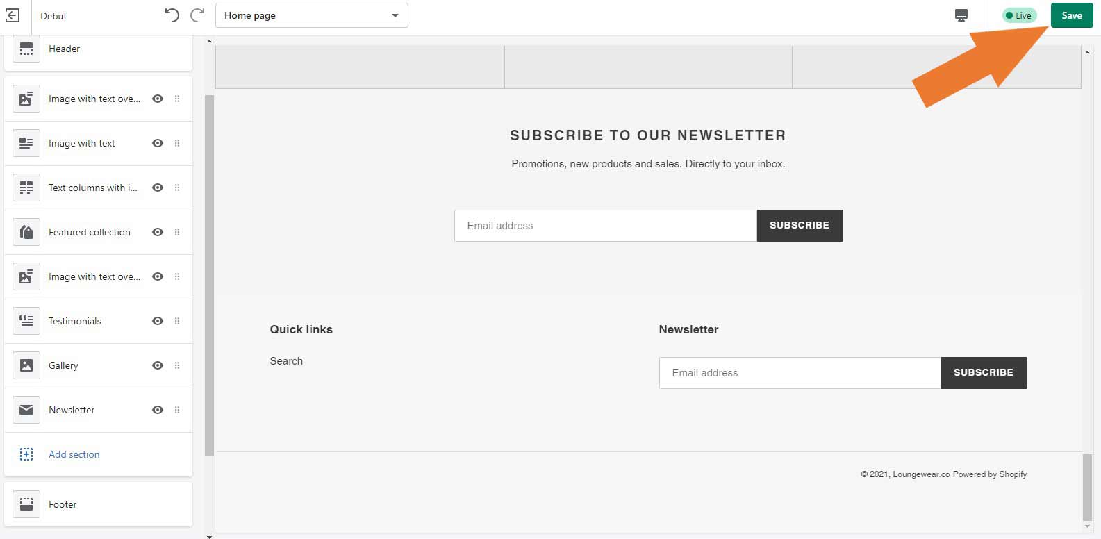 how-to-enable-footer-newsletter-form-and-meta-descriptions-Step-7