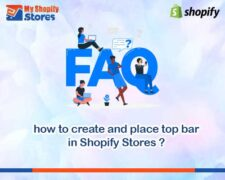 How to create and place top bar menu in Shopify.