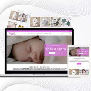 Delight Babies   Premade Shopify Store for Babies  Multi Product Store