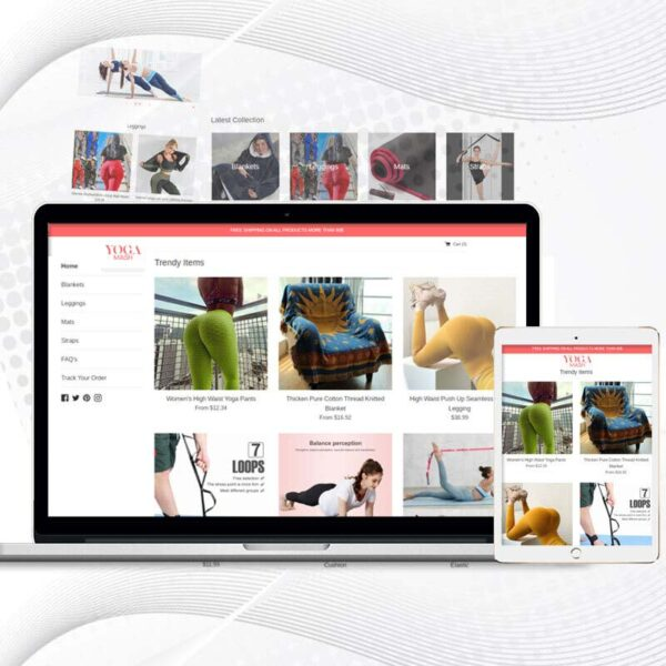 Yoga Mash   Premade Shopify Store for Women   Multi Product Store