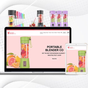 Portable Blender Co | Single Product Premade Shopify Store